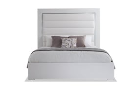 Amalfi Queen White Bed