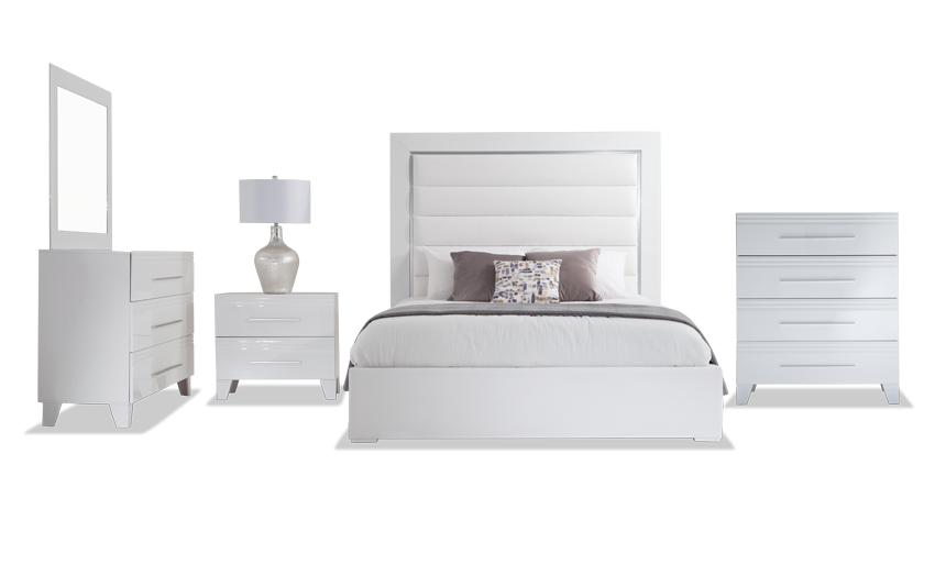 Amalfi King White Bedroom Set