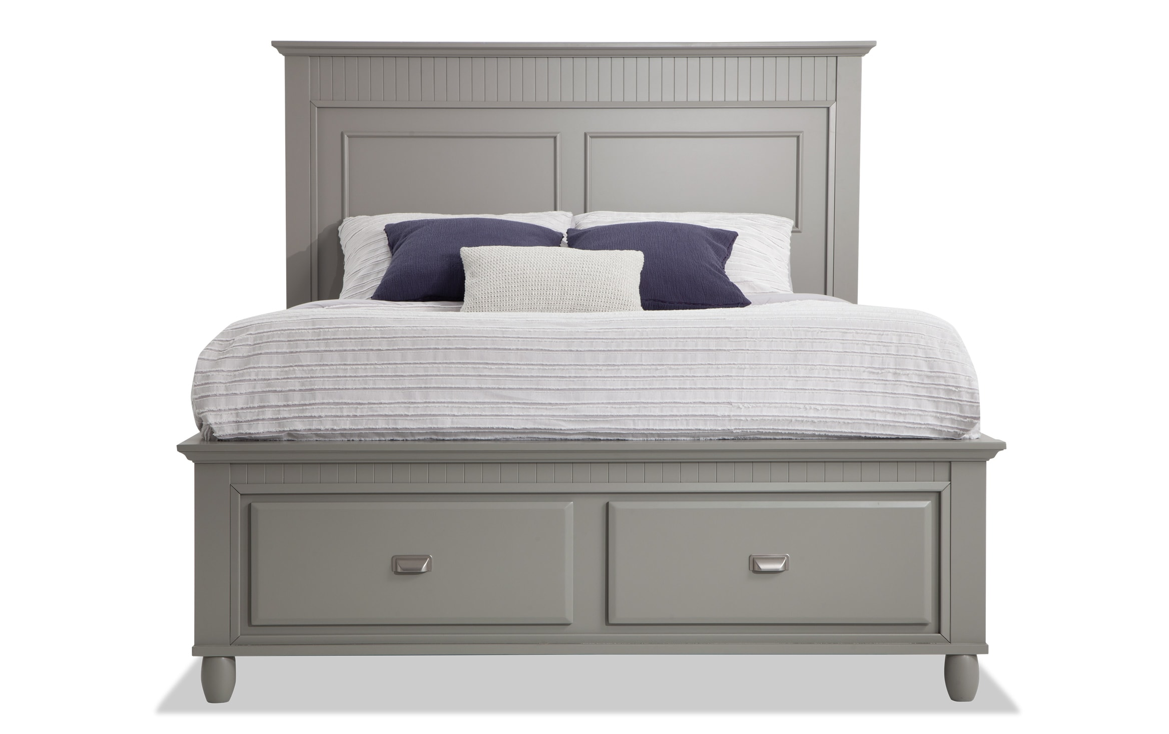 Spencer Queen Gray Storage Bed Bobs Com