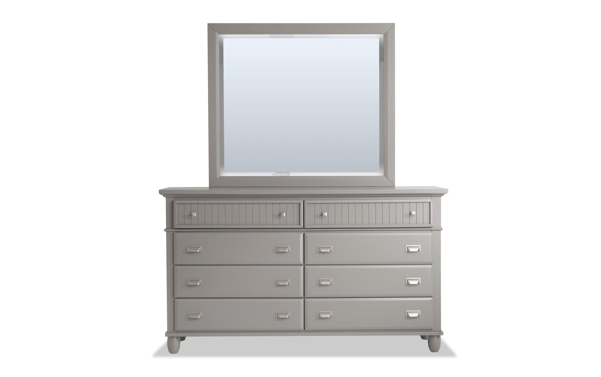 Spencer Gray Dresser Mirror Bobs