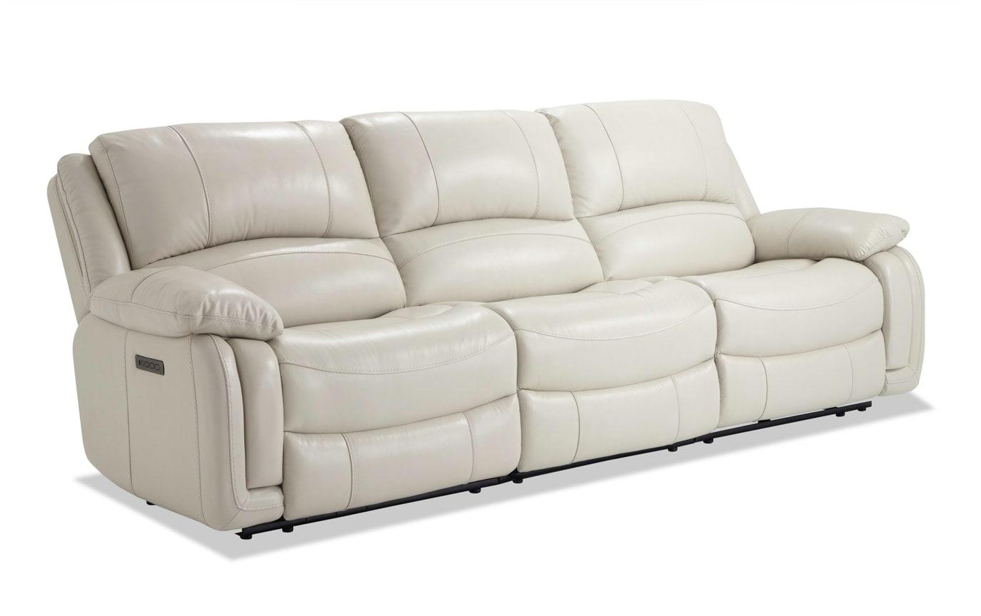Titan Ice Leather Power Reclining Sofa