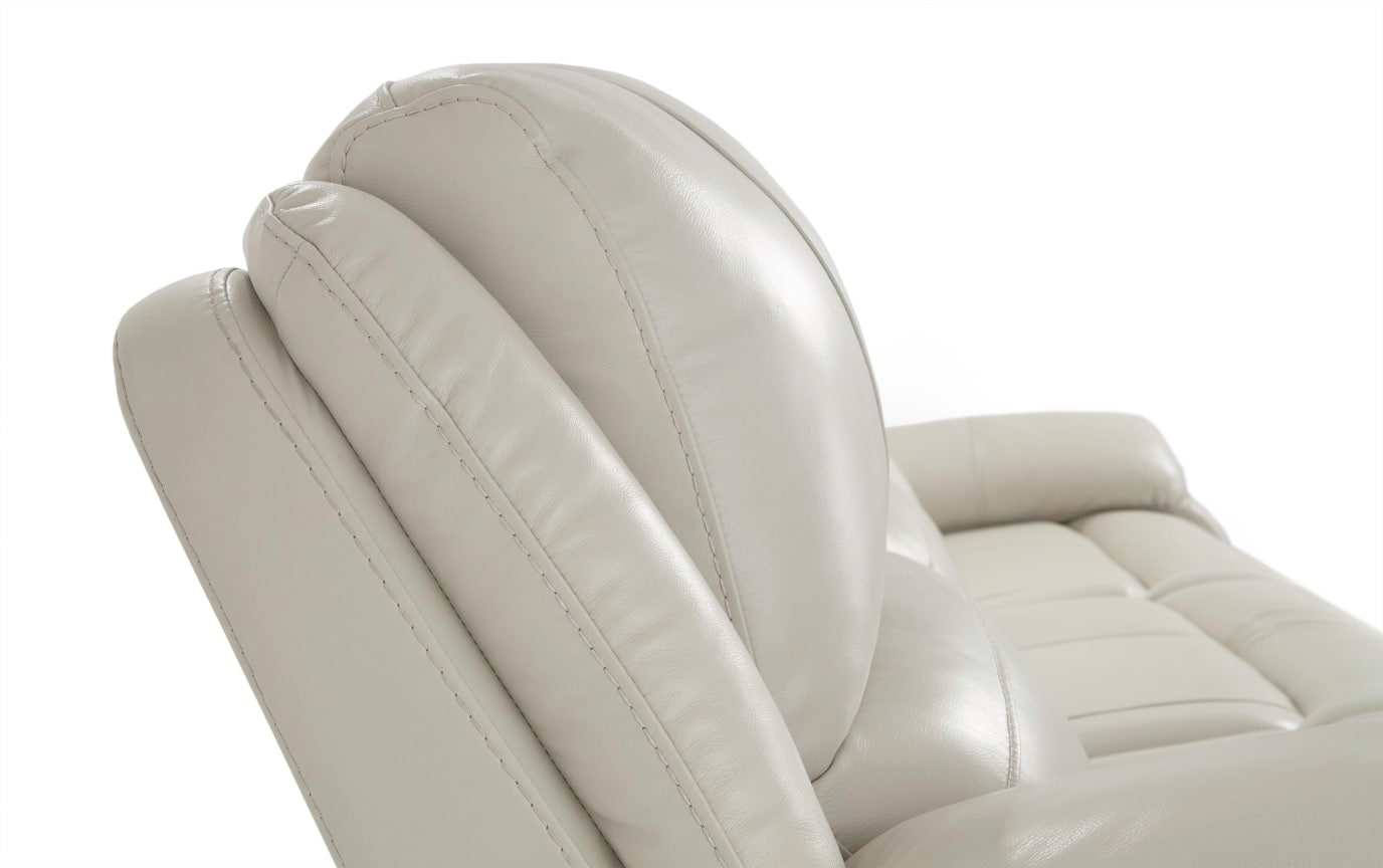 Titan Ice Leather 3 Piece Power Reclining Left Arm Facing Sectional