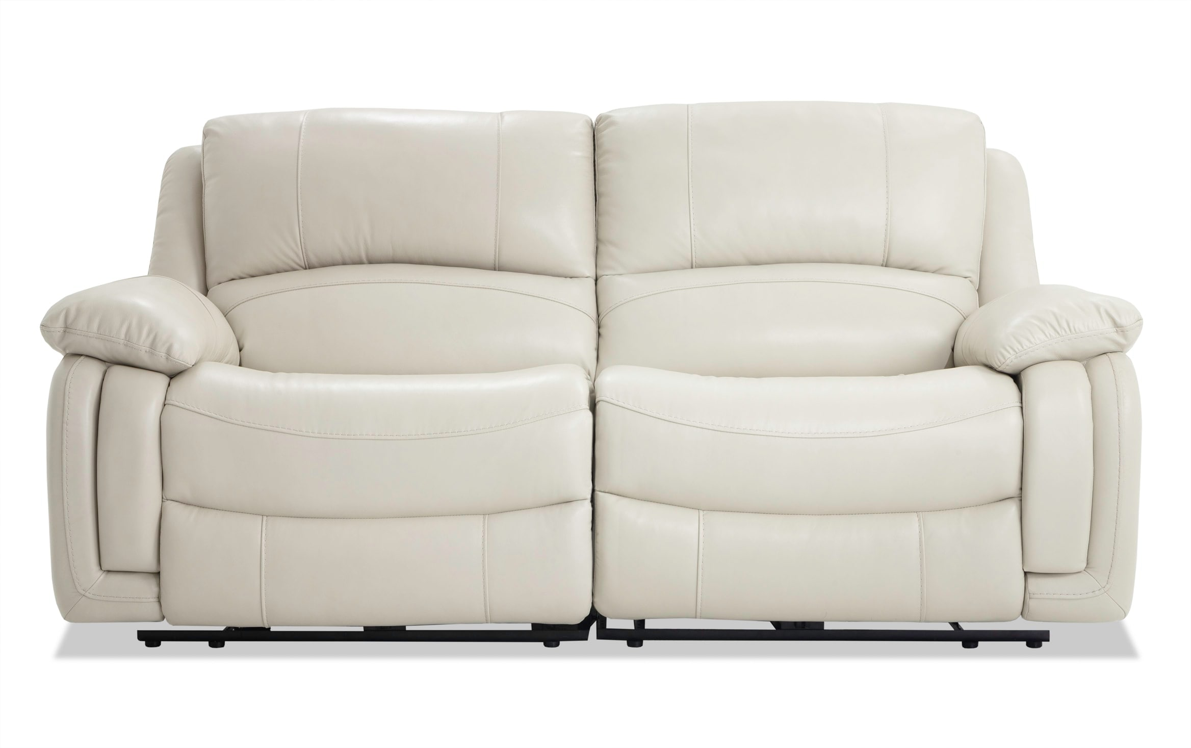 Titan Ice Leather Power Reclining Loveseat Bobs Com