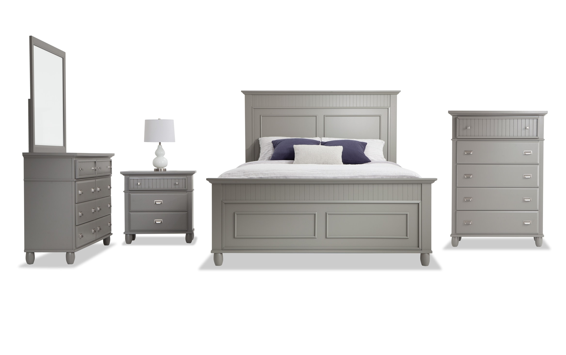 Spencer Queen Gray Bedroom Set Bobs Com