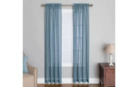Anja 50'' x 84'' Blue Curtain Panel