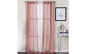 Melissa 52'' x 63'' Blush Curtain Panel