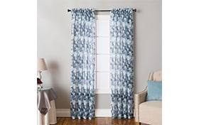 Belma 50'' x 84'' Blue Curtain Panel