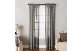 Jasmine 50'' x 84'' Gray Curtain Panel