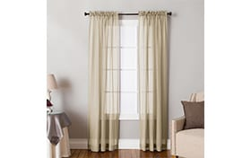 Jasmine 50'' x 84'' Taupe Curtain Panel