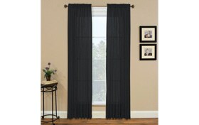 Maja 52'' x 84'' Black Curtain Panel