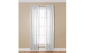 Aaliya 51'' x 84'' White Curtain Panel