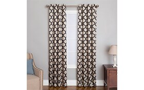 Freya 50'' x 84'' Onyx Curtain Panel