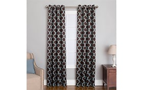 Freya 50'' x 84'' Chocolate Curtain Panel
