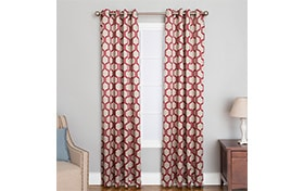 Freya 50'' x 84'' Red Curtain Panel