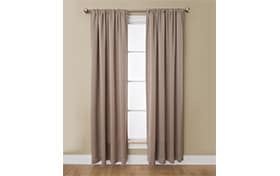 Haines 50'' x 63'' Taupe Curtain Panel