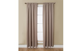 Haines 50'' x 84'' Taupe Curtain Panel