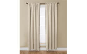 Haines 50'' x 84'' Ivory Curtain Panel