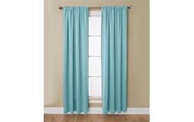 Haines 50'' x 95'' Blue Curtain Panel