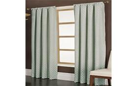 Marta 50'' x 63'' Blue Curtain Panel
