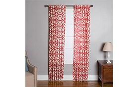 Chapman 50'' x 84'' Red Curtain Panel