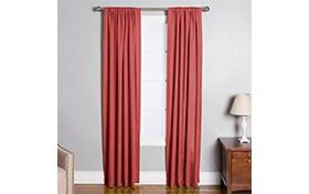 Mia 50'' x 84'' Red Curtain Panel