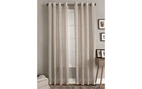 Teegan 50'' x 63'' Beige Curtain Panel