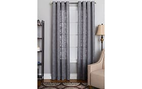 Nolan 50'' x 63'' Gray Curtain Panel