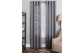 Nolan 50'' x 95'' Gray Curtain Panel
