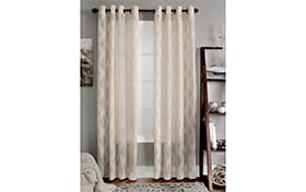 Conroy 50'' x 63'' Ivory Curtain Panel