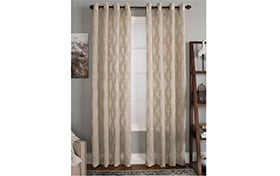 Conroy 50'' x 84'' Beige Curtain Panel