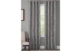 Hartfield 50'' x 63'' Charcoal Curtain Panel