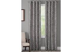 Hartfield 50'' x 95'' Charcoal Curtain Panel