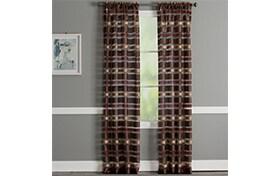 Danny 52'' x 84'' Brown Curtain Panel