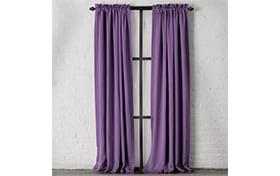Dillon 54'' x 63'' Purple Curtain Panel