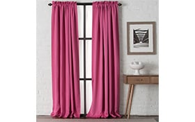 Dillon 54'' x 63'' Pink Curtain Panel