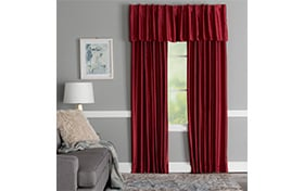 Faris 52'' x 63'' Red Curtain Panel