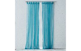 Latisha 50'' x 84'' Blue Curtain Panel