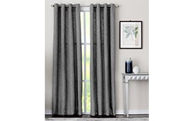 Mackay 50'' x 84'' Charcoal Curtain Panel