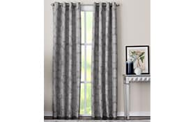 Marion 50'' x 63'' Gray Curtain Panel