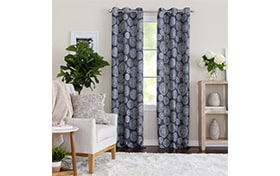 Marion 50'' x 63'' Indigo Curtain Panel