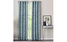 Marion 50'' x 84'' Teal Curtain Panel