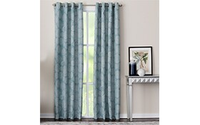 Marion 50'' x 95'' Teal Curtain Panel