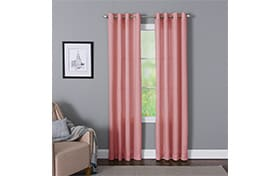 Devan 50'' x 63'' Pink Curtain Panel