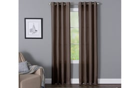 Devan 50'' x 84'' Chocolate Curtain Panel