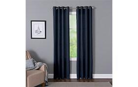 Devan 50'' x 84'' Navy Curtain Panel