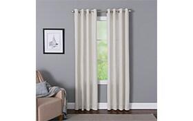 Devan 50'' x 84'' White Curtain Panel