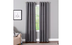 Devan 50'' x 95'' Charcoal Curtain Panel