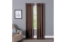 Devan 50'' x 95'' Chocolate Curtain Panel