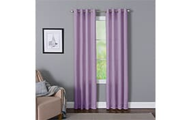 Devan 50'' x 95'' Purple Curtain Panel