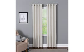 Devan 50'' x 95'' White Curtain Panel